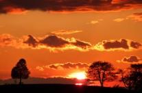 Sonnenuntergang am Lipberg Bild: © K. Schmeißer