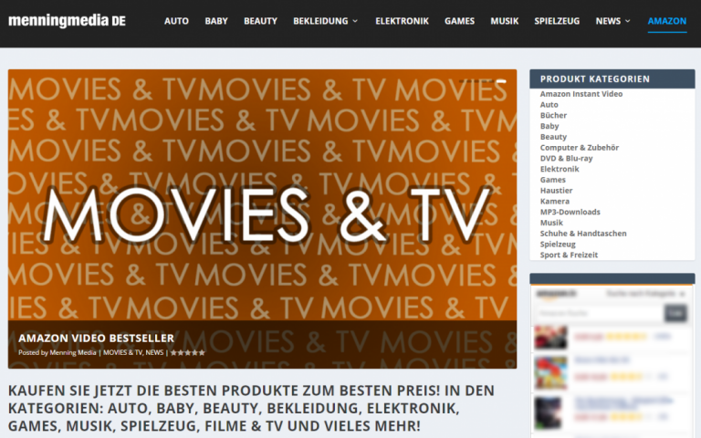 Menning Media Deutschland Bestseller Onlineshop